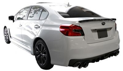 Forged Carbon Fiber Rear Trunk Lip Lid Boot Spoiler Wing For SUBARU WRX STI D